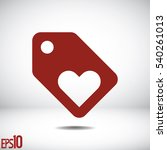 sale tag with heart icon. | Shutterstock .eps vector #540261013