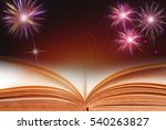 colorful fireworks on dark... | Shutterstock . vector #540263827