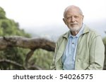 portrait of an old man sitting... | Shutterstock . vector #54026575