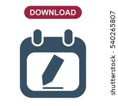 calendar icon vector flat... | Shutterstock .eps vector #540265807