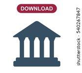 bank icon vector flat design...