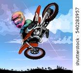 motocross cartoon  funny  for...   Shutterstock .eps vector #540283957