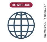 globe icon vector flat design... | Shutterstock .eps vector #540306247