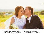 portrait of a couple bride and... | Shutterstock . vector #540307963