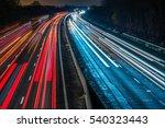 Night View Of Uk Motorway...