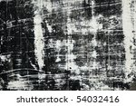 Old wall with paint traces - stock photo