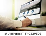 web developer designing a... | Shutterstock . vector #540329803