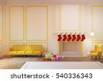 living room interior with a... | Shutterstock . vector #540336343