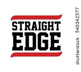straight edge black red text...   Shutterstock . vector #540342577