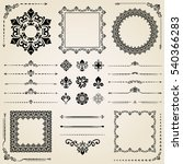 vintage set of classic elements.... | Shutterstock .eps vector #540366283