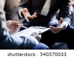business partners discussing... | Shutterstock . vector #540370033