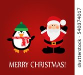 christmas greeting card with a... | Shutterstock .eps vector #540374017