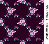 simple cute pattern in small... | Shutterstock .eps vector #540374437