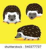 cute hedgehog cartoon vector... | Shutterstock .eps vector #540377737