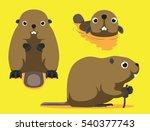 cute beaver cartoon vector...   Shutterstock .eps vector #540377743
