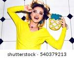 beauty hight fashion portrait... | Shutterstock . vector #540379213