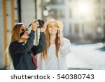 young travel woman posing in... | Shutterstock . vector #540380743
