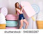 stunning attractive blonde girl ...   Shutterstock . vector #540383287