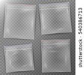 transparent plastic bag. set...   Shutterstock .eps vector #540386713