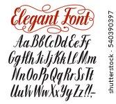 hand drawn elegant calligraphy... | Shutterstock .eps vector #540390397