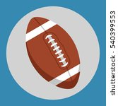 rugby ball icon. brown rugby... | Shutterstock .eps vector #540399553