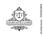 luxury justice lawyer logo | Shutterstock .eps vector #540402883