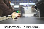shopper paying for products at... | Shutterstock . vector #540409003