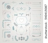 set of colorful hand drawn... | Shutterstock . vector #540415087