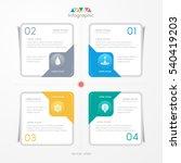 infographics design template... | Shutterstock .eps vector #540419203
