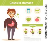 gases in stomach. vector.... | Shutterstock .eps vector #540419233