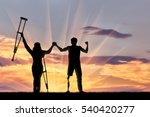 disabled people with prosthesis ... | Shutterstock . vector #540420277