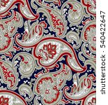 traditional indian paisley... | Shutterstock .eps vector #540422647