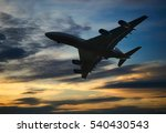 air plane silhouette over the... | Shutterstock . vector #540430543