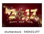 2017 happy new year background. ... | Shutterstock .eps vector #540431197