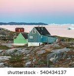 view of disko bay with icebergs ... | Shutterstock . vector #540434137