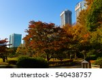 autumn city view  sunny day in... | Shutterstock . vector #540438757