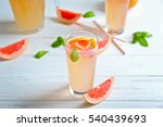 glass of refreshing grapefruit...   Shutterstock . vector #540439693