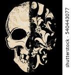 skull t shirt graphic design | Shutterstock .eps vector #540443077