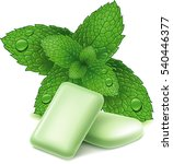 chewing gum and fresh mint... | Shutterstock .eps vector #540446377