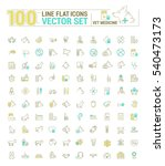 vector graphic set. icons in... | Shutterstock .eps vector #540473173
