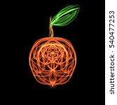 apple abstract illustration on...   Shutterstock . vector #540477253
