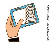 book download related icons... | Shutterstock .eps vector #540483607