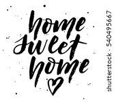 "hand ink lettering ""home sweet... 