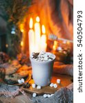 hot cacao with marshmallow | Shutterstock . vector #540504793