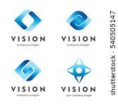 vision. eye logo set. creative... | Shutterstock .eps vector #540505147