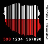 map of  poland with barcode   Shutterstock .eps vector #540520567