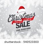 christmas sale banner  vector... | Shutterstock .eps vector #540523303