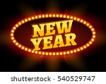 neon retro billboard new year... | Shutterstock . vector #540529747