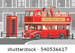 people go on the red tourist... | Shutterstock .eps vector #540536617