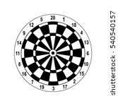 classic dartboard vector with a ... | Shutterstock .eps vector #540540157